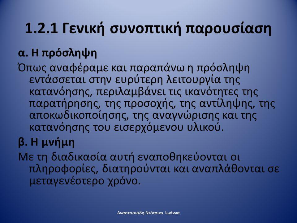1.2.1 Γενική συνοπτική παρουσίαση