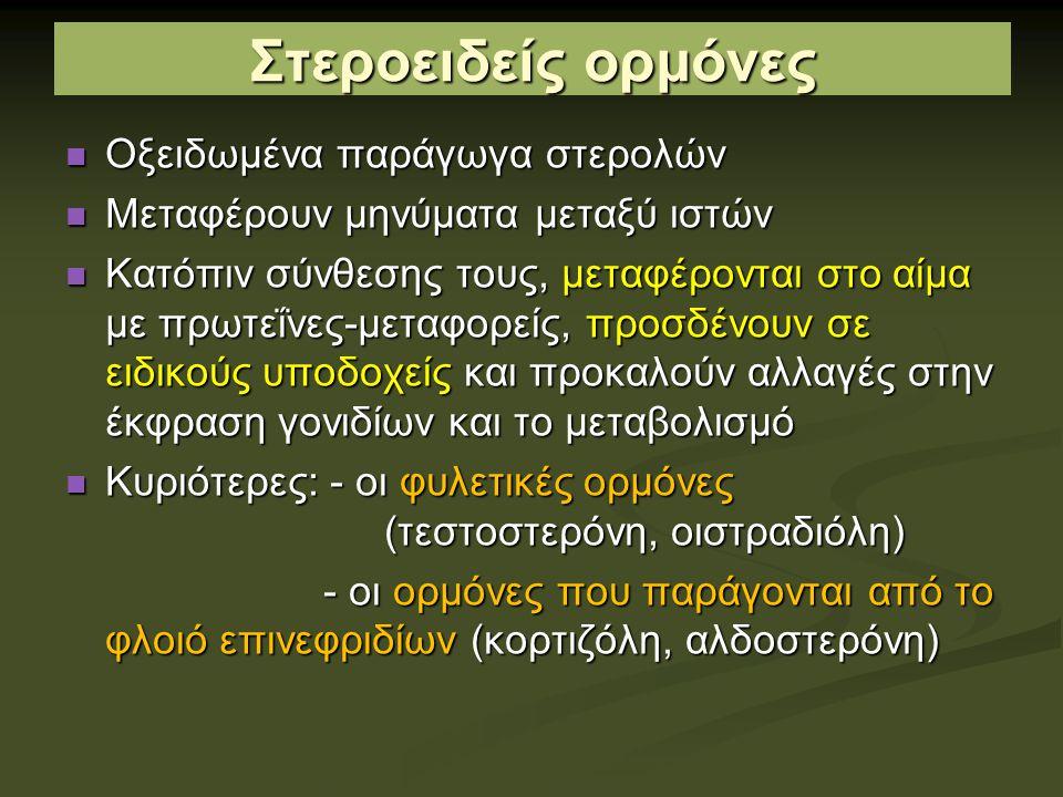 Στεροειδείς ορμόνες Οξειδωμένα παράγωγα στερολών