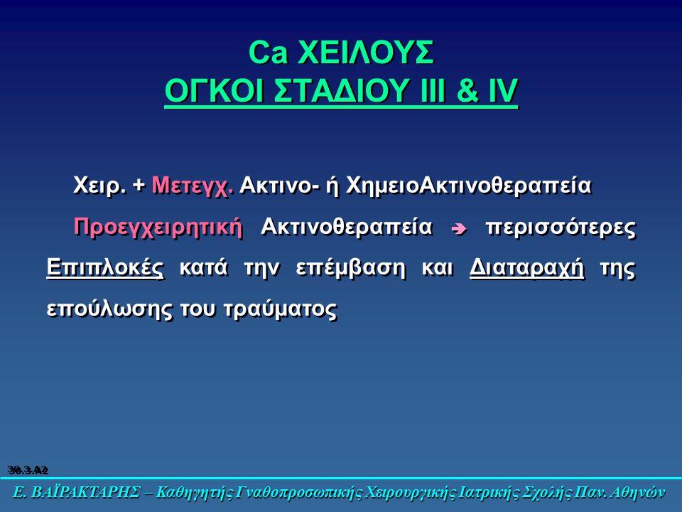 Ca ΧΕΙΛΟΥΣ ΟΓΚΟΙ ΣΤΑΔΙΟΥ III & IV