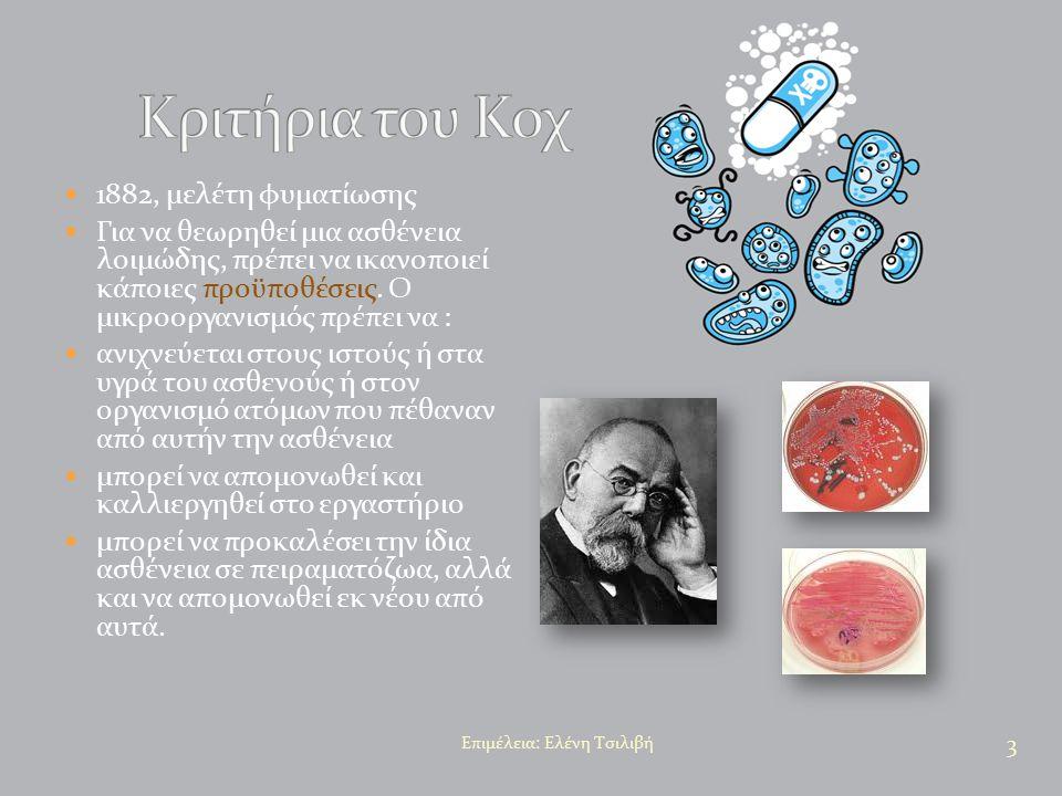 Κριτήρια του Κοχ 1882, μελέτη φυματίωσης
