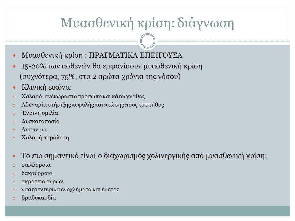 Μυασθενική κρίση: διάγνωση