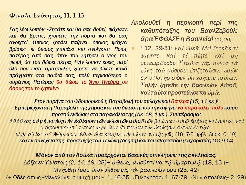 Φινάλε Ενότητας 11, 1-13: