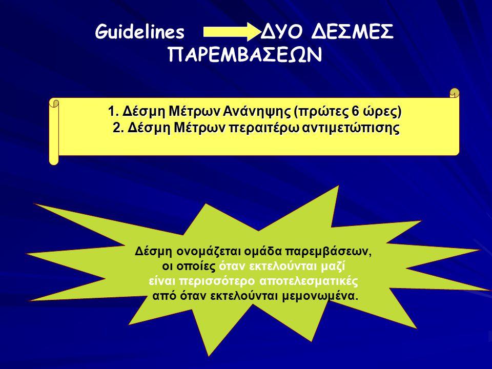 Guidelines ΔΥΟ ΔΕΣΜΕΣ ΠΑΡΕΜΒΑΣΕΩΝ