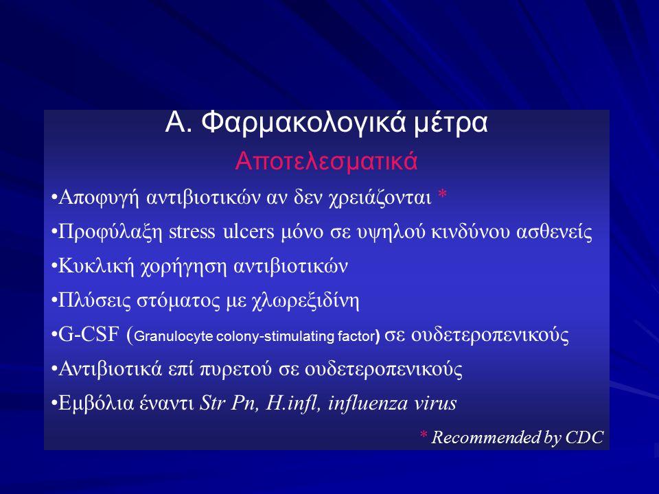Α. Φαρμακολογικά μέτρα Αποτελεσματικά