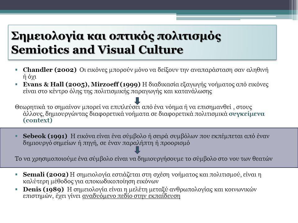 Σημειολογία και οπτικός πολιτισμός Semiotics and Visual Culture
