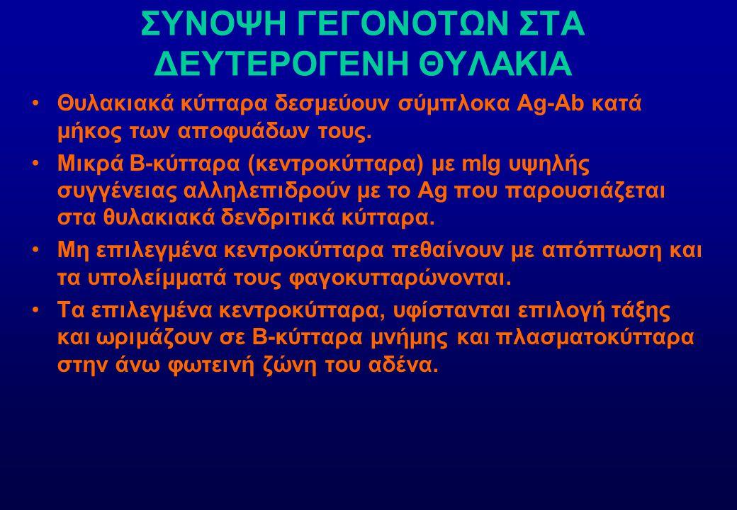 ΣΥΝΟΨΗ ΓΕΓΟΝΟΤΩΝ ΣΤΑ ΔΕΥΤΕΡΟΓΕΝΗ ΘΥΛΑΚΙΑ