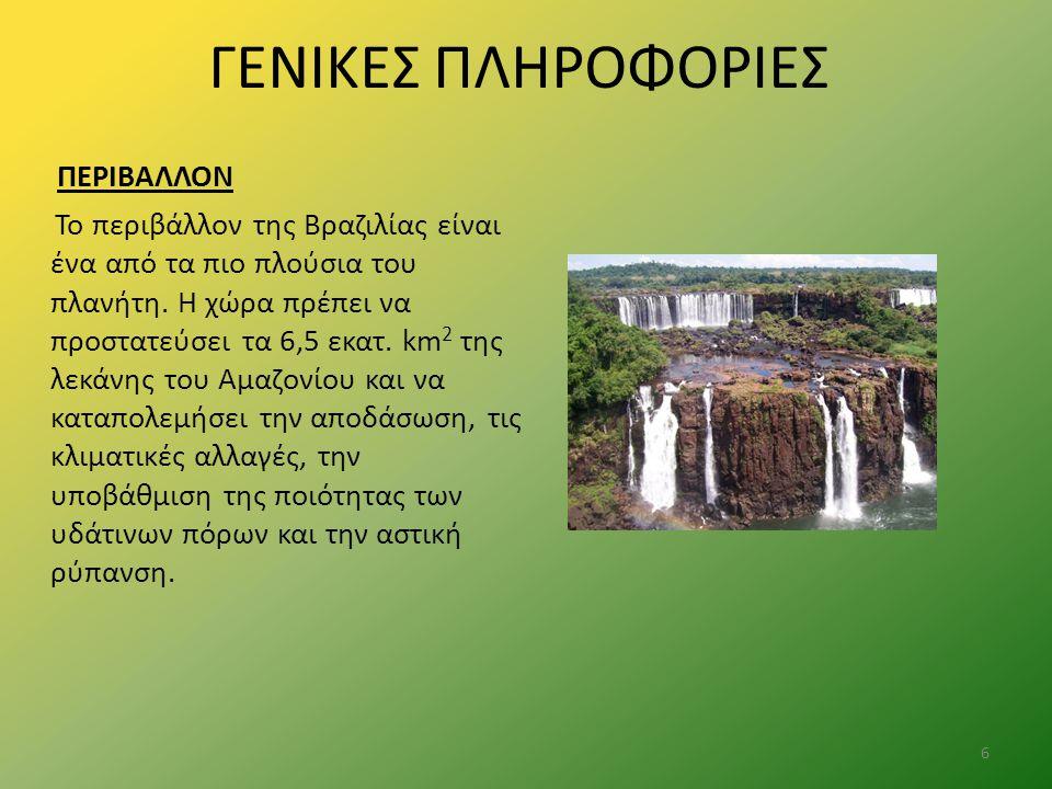 ΓΕΝΙΚΕΣ ΠΛΗΡΟΦΟΡΙΕΣ ΠΕΡΙΒΑΛΛΟΝ