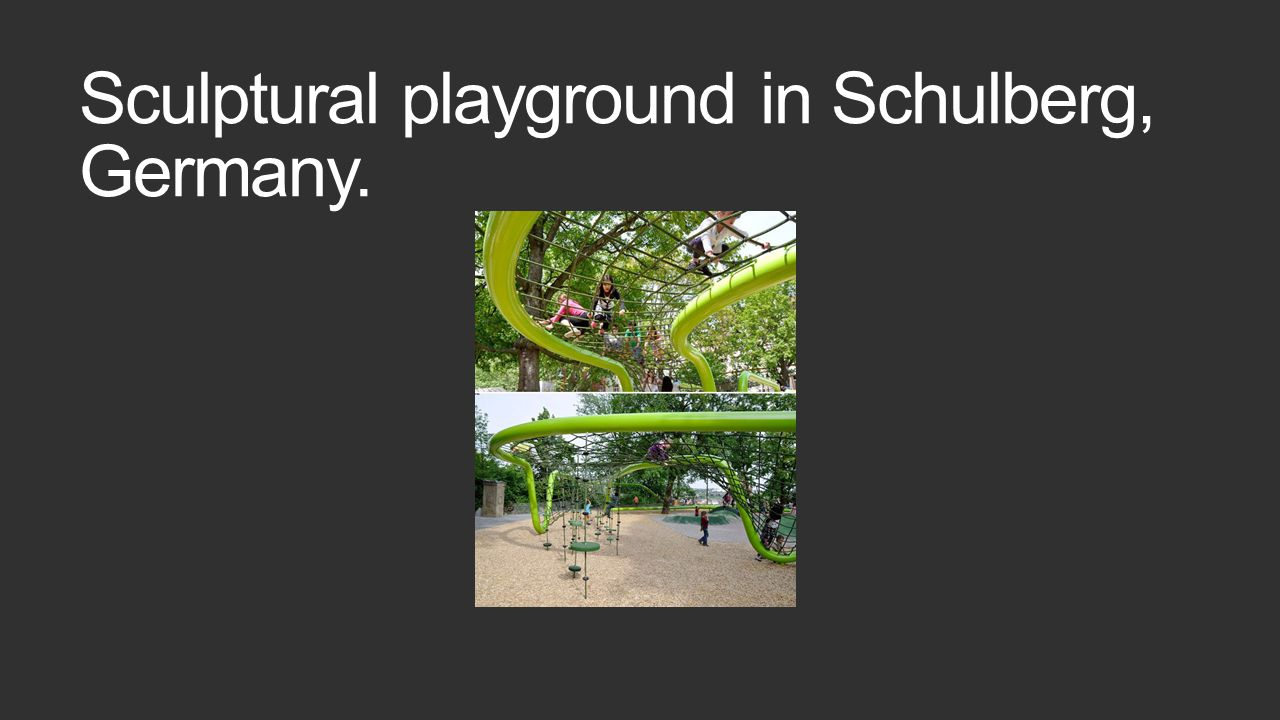 Sculptural playground in Schulberg, Germany.