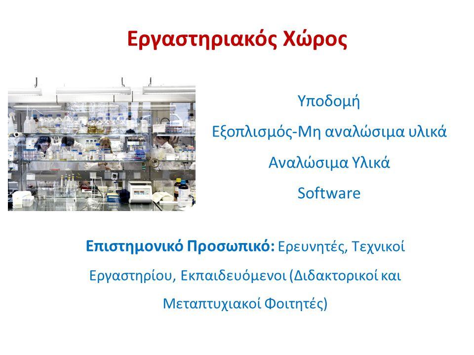 Υποδομή Εξοπλισμός-Μη αναλώσιμα υλικά Αναλώσιμα Υλικά Software