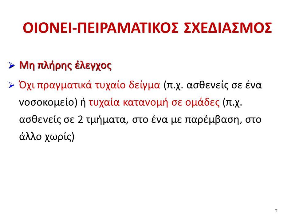 ΟΙΟΝΕΙ-ΠΕΙΡΑΜΑΤΙΚΟΣ ΣΧΕΔΙΑΣΜΟΣ