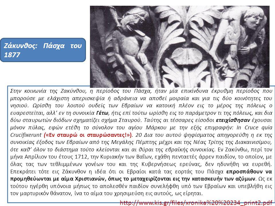 Ζάκυνθος: Πάσχα του 1877