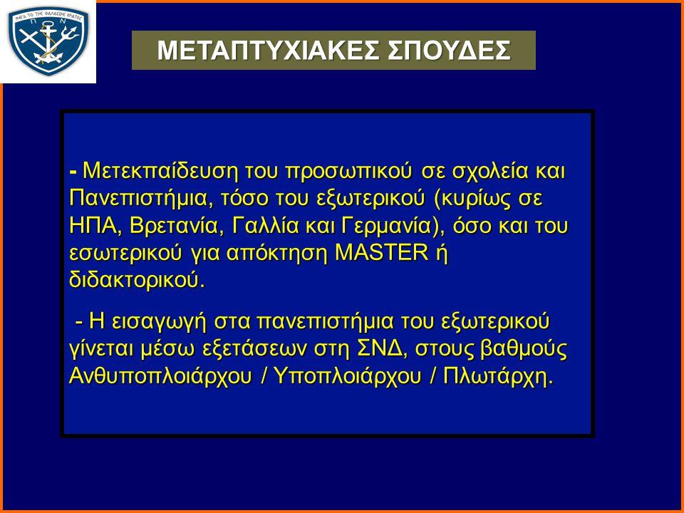 ΜΕΤΑΠΤΥΧΙΑΚΕΣ ΣΠΟΥΔΕΣ