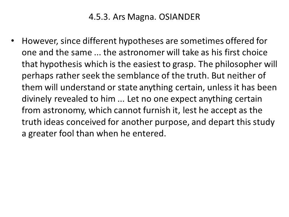 4.5.3. Ars Magna. OSIANDER