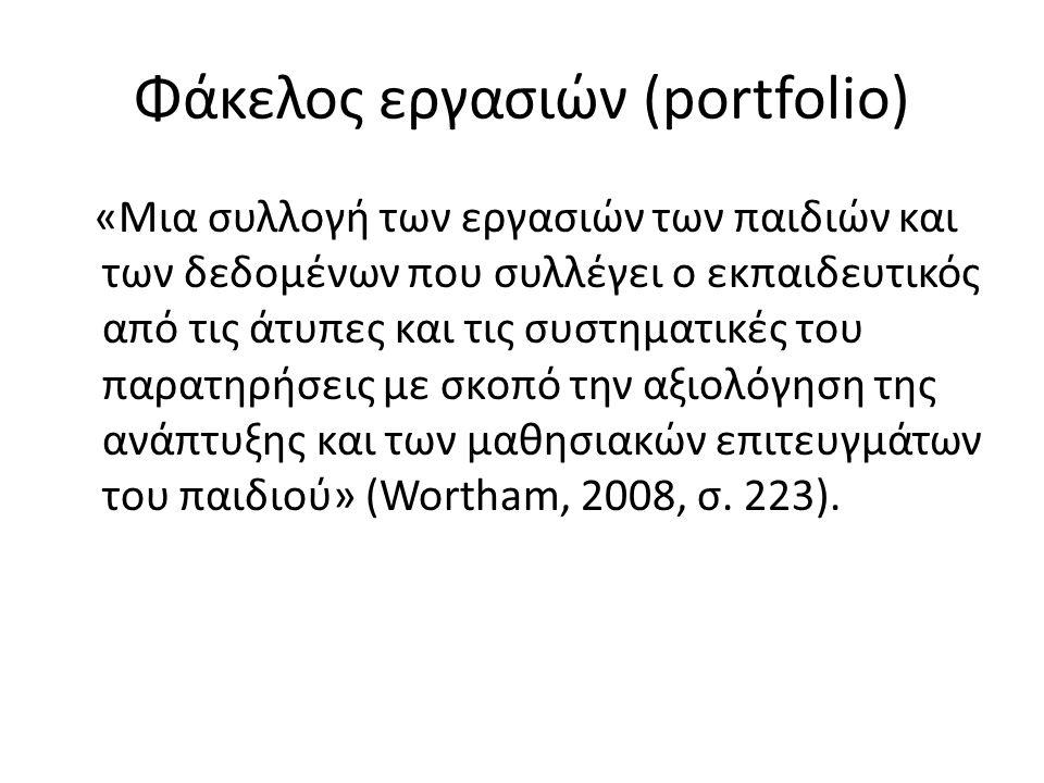 Φάκελος εργασιών (portfolio)