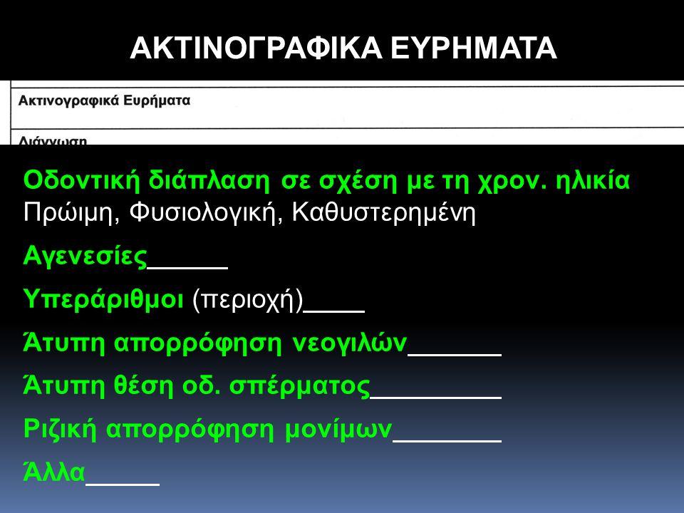 ΑΚΤΙΝΟΓΡΑΦΙΚΑ ΕΥΡΗΜΑΤΑ