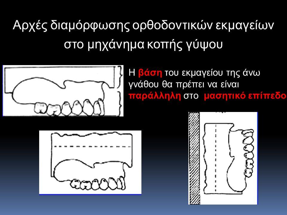 Αρχές διαμόρφωσης ορθοδοντικών εκμαγείων στο μηχάνημα κοπής γύψου