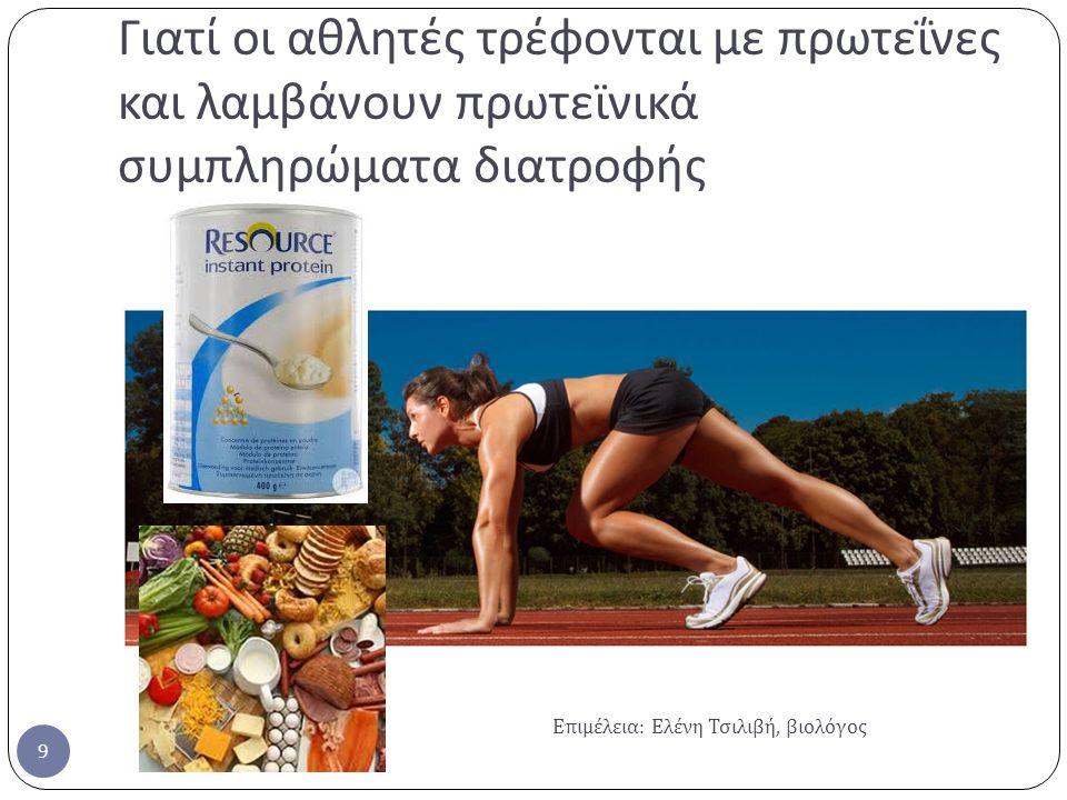 Γιατί οι αθλητές τρέφονται με πρωτεΐνες και λαμβάνουν πρωτεϊνικά συμπληρώματα διατροφής