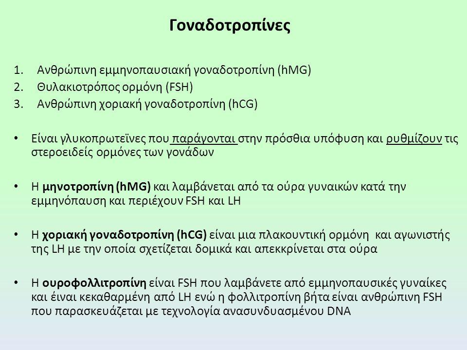 Γοναδοτροπίνες Ανθρώπινη εμμηνοπαυσιακή γοναδοτροπίνη (hMG)