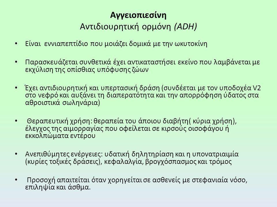Αγγειοπιεσίνη Αντιδιουρητική ορμόνη (ADH)