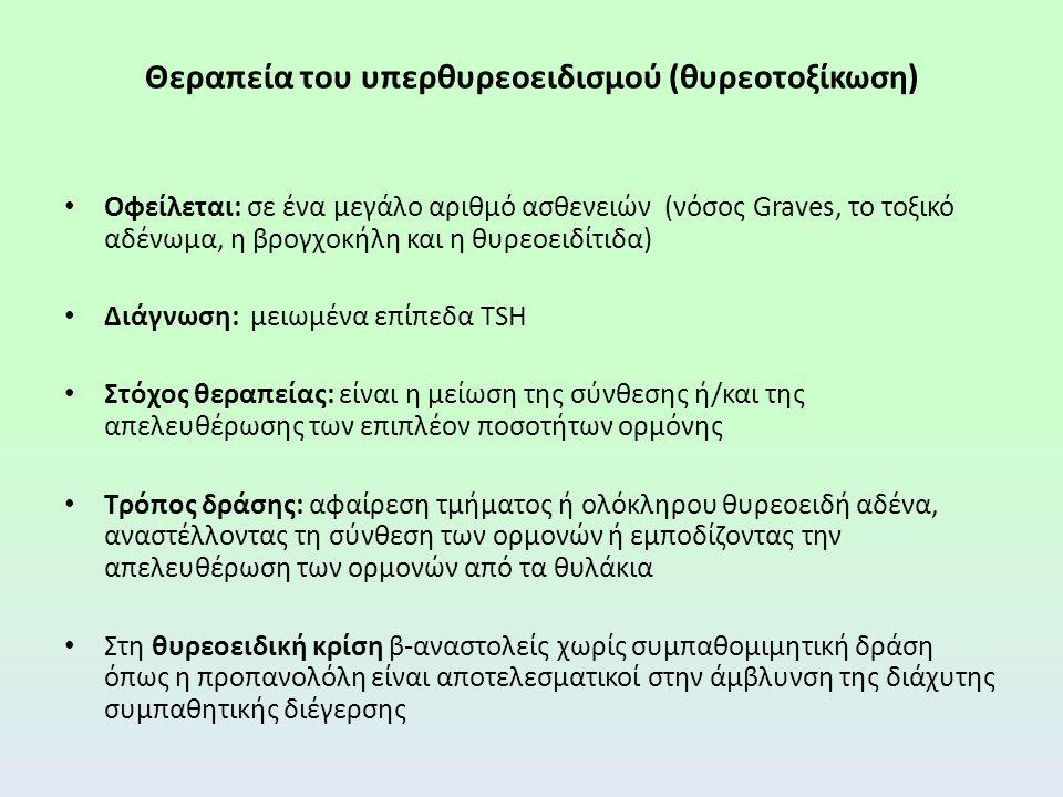 Θεραπεία του υπερθυρεοειδισμού (θυρεοτοξίκωση)