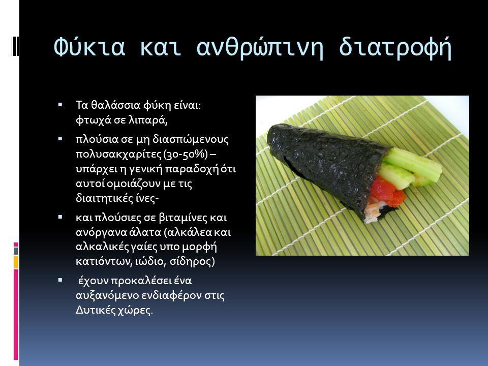 Φύκια και ανθρώπινη διατροφή