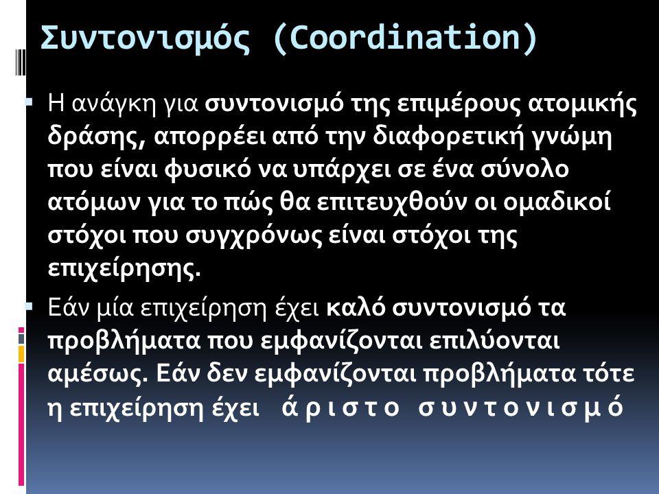 Συντονισμός (Coordination)