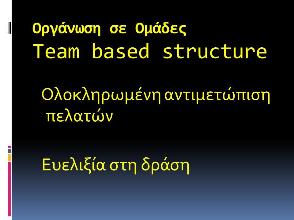 Οργάνωση σε Ομάδες Team based structure