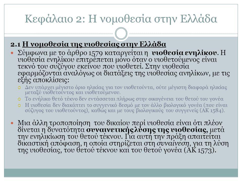Κεφάλαιο 2: Η νομοθεσία στην Ελλάδα
