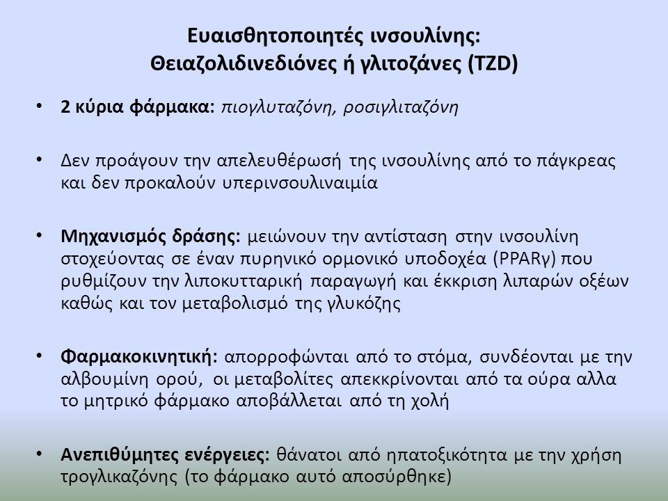 Ευαισθητοποιητές ινσουλίνης: Θειαζολιδινεδιόνες ή γλιτοζάνες (TZD)