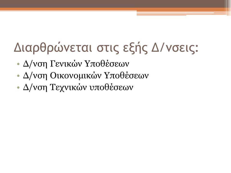 Διαρθρώνεται στις εξής Δ/νσεις: