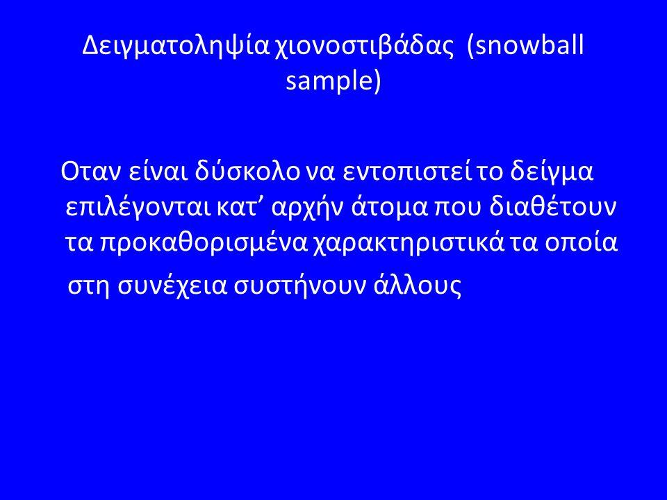 Δειγματοληψία χιονοστιβάδας (snowball sample)