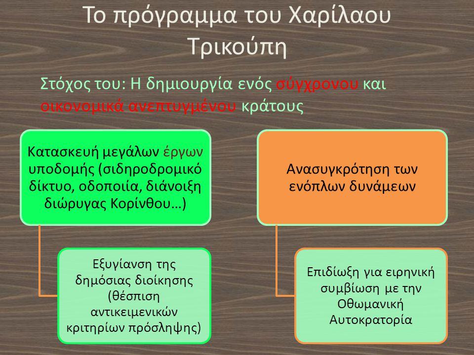 Το πρόγραμμα του Χαρίλαου Τρικούπη