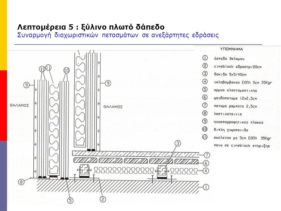 Λεπτομέρεια 5 : ξύλινο πλωτό δάπεδο