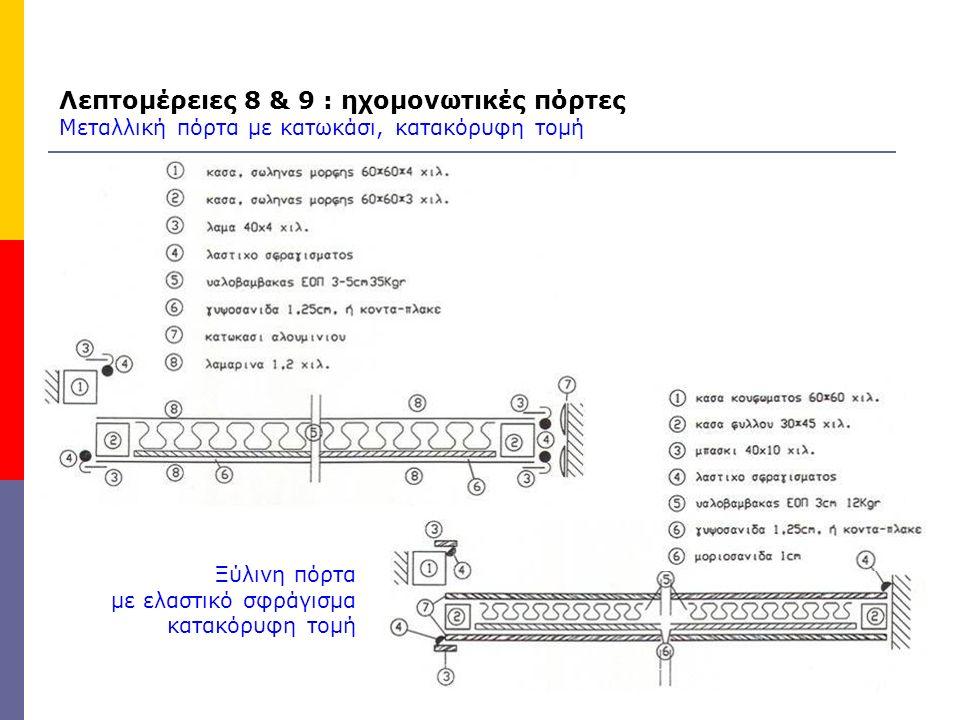 Λεπτομέρειες 8 & 9 : ηχομονωτικές πόρτες