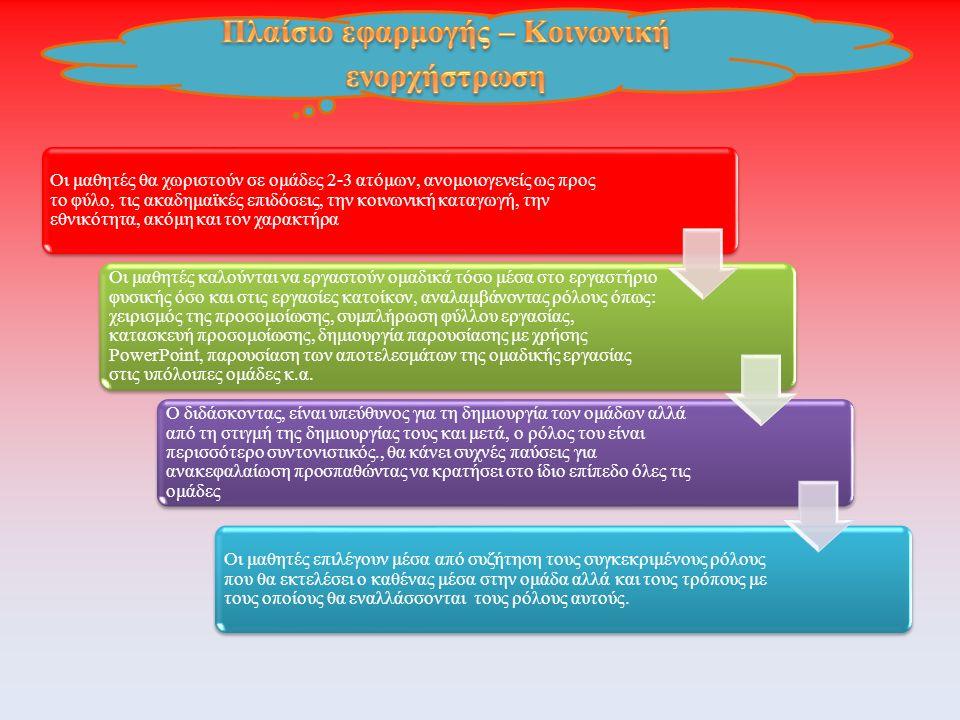 Πλαίσιο εφαρμογής – Κοινωνική ενορχήστρωση