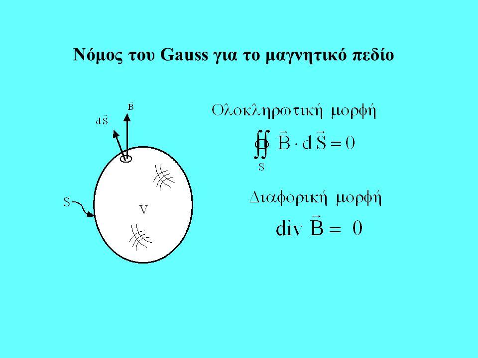 Νόμος του Gauss για το μαγνητικό πεδίο