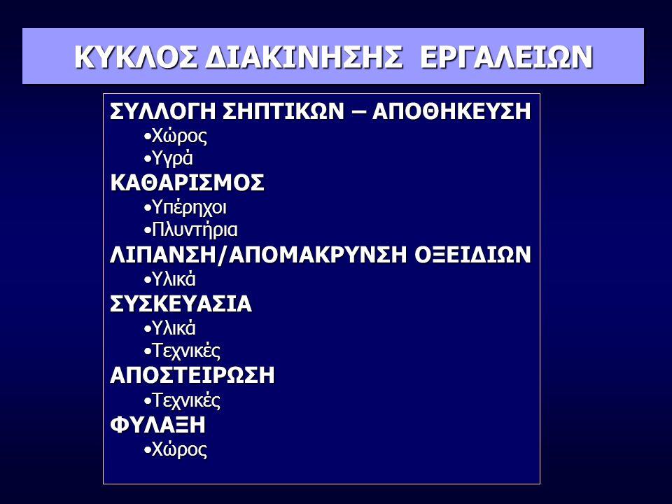 ΚΥΚΛΟΣ ΔΙΑΚΙΝΗΣΗΣ ΕΡΓΑΛΕΙΩΝ