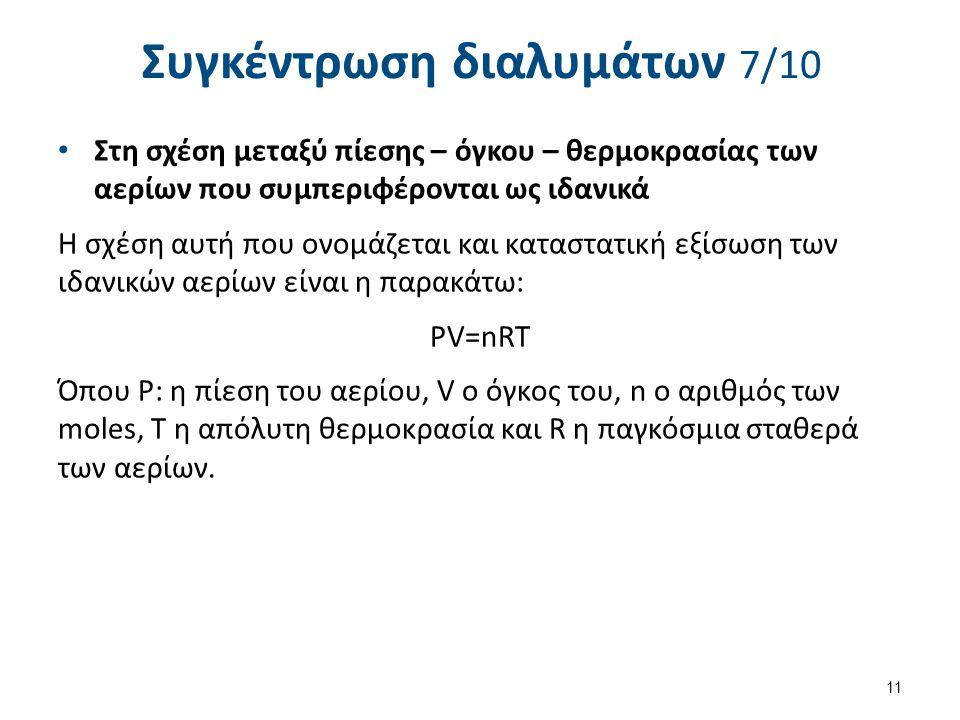 Συγκέντρωση διαλυμάτων 8/10