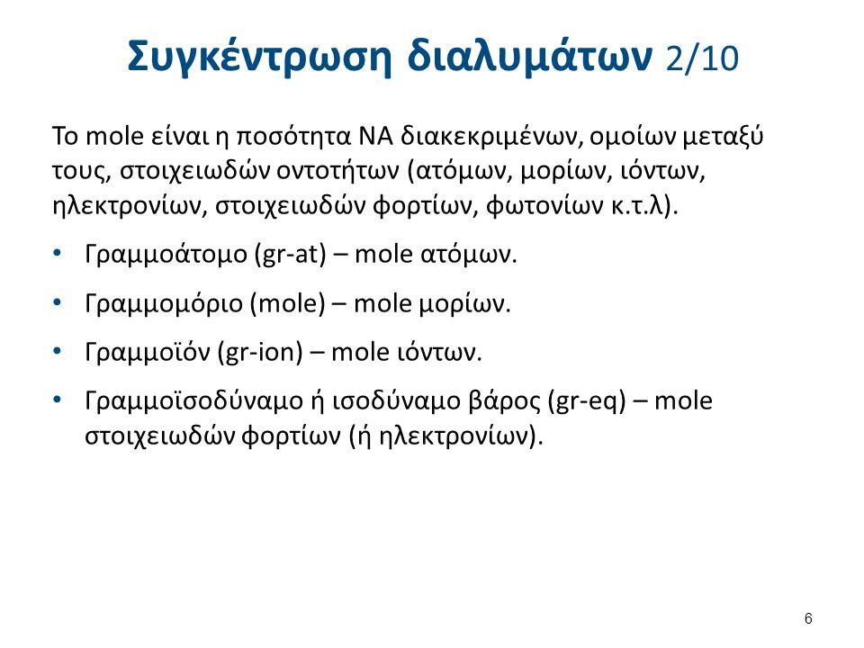 Συγκέντρωση διαλυμάτων 3/10