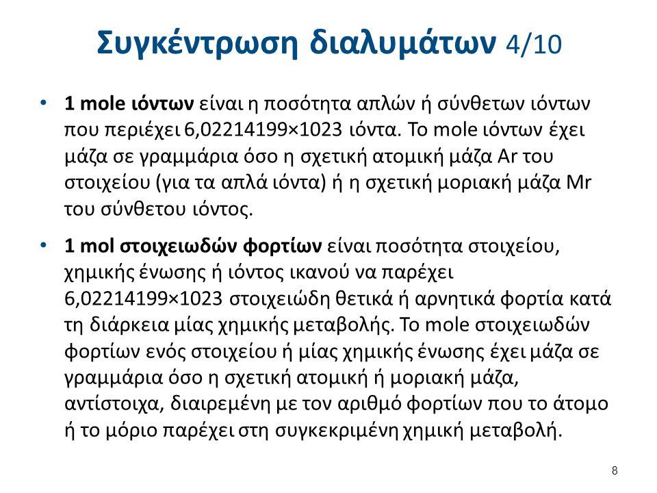 Συγκέντρωση διαλυμάτων 5/10