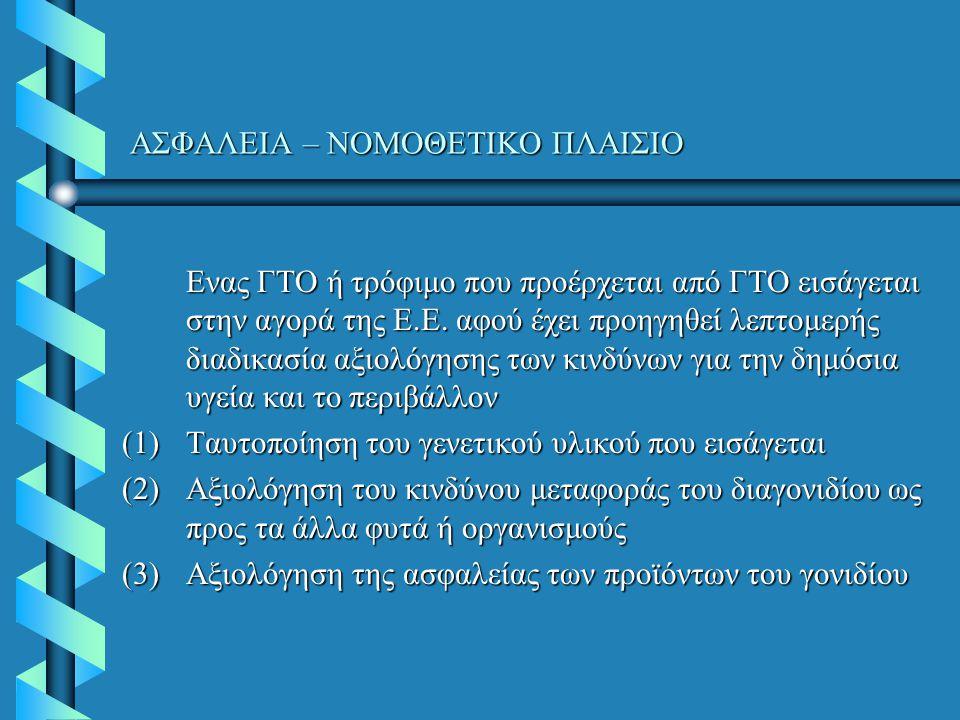 ΑΣΦΑΛΕΙΑ – ΝΟΜΟΘΕΤΙΚΟ ΠΛΑΙΣΙΟ