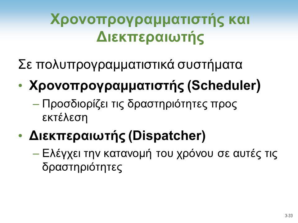 Χρονοπρογραμματιστής και Διεκπεραιωτής
