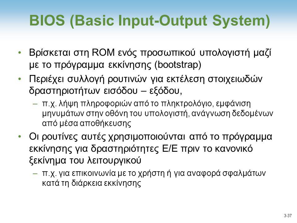 ΒΙΟS (Basic Input-Output System)