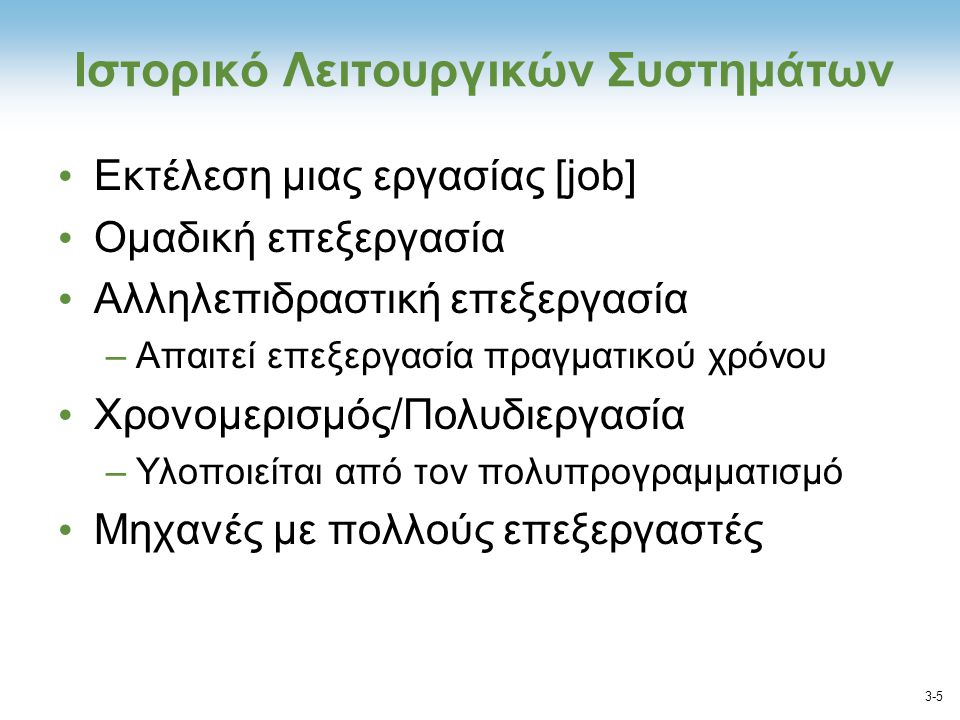 Ιστορικό Λειτουργικών Συστημάτων
