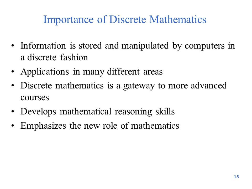 Importance of Discrete Mathematics