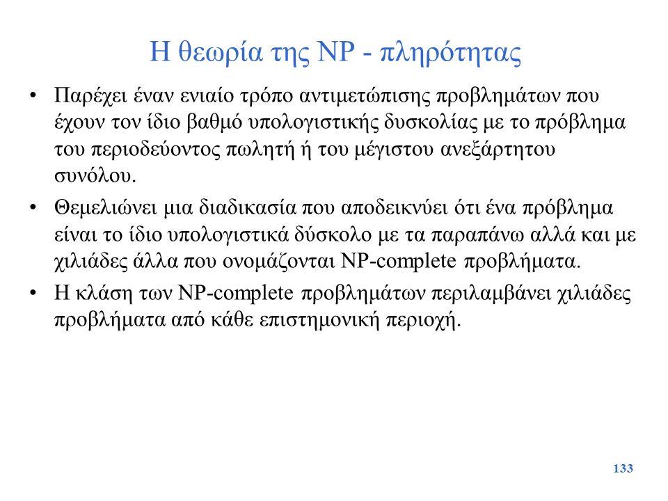 Η θεωρία της NP - πληρότητας