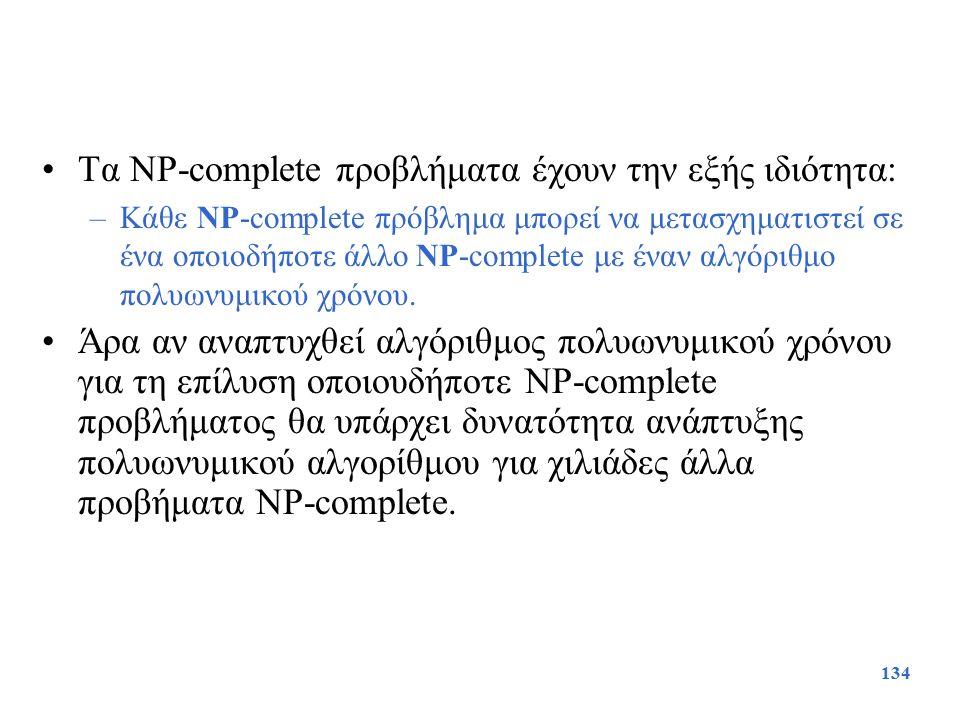 Τα NP-complete προβλήματα έχουν την εξής ιδιότητα: