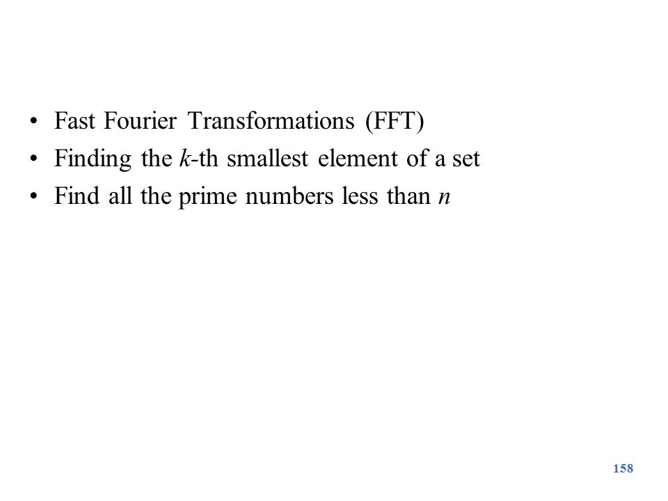 Fast Fourier Transformations (FFT)