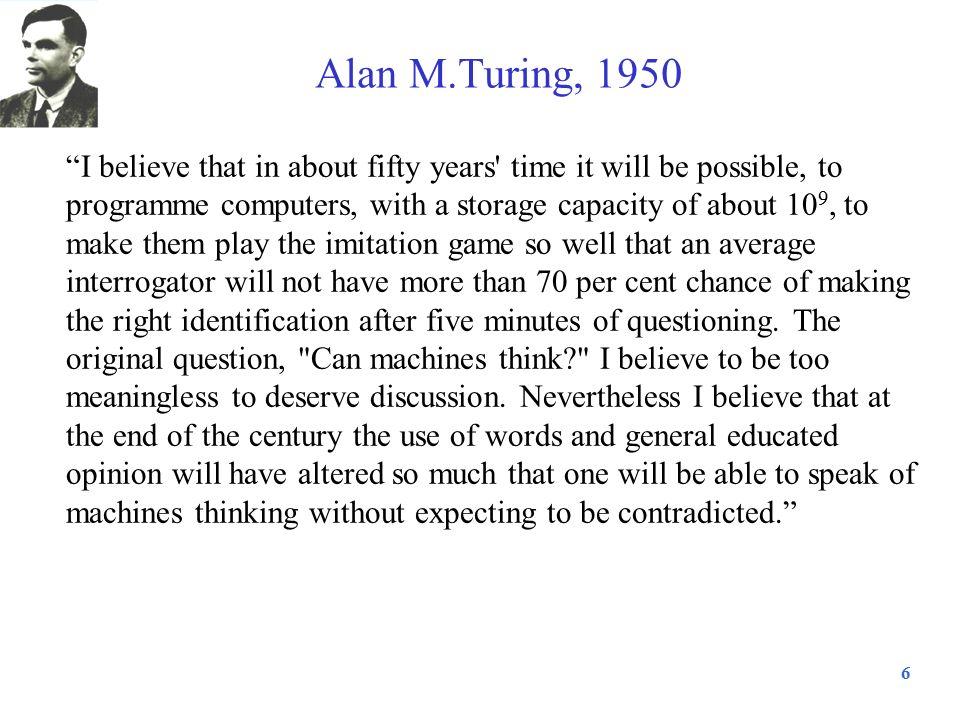 Alan M.Turing, 1950