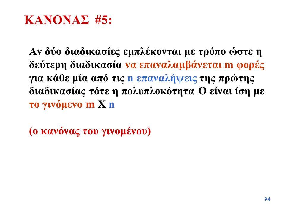 ΚΑΝΟΝΑΣ #5: